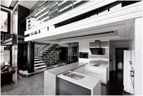 现代黑白经典厨房设计欣赏