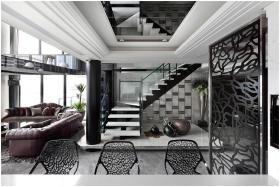 简欧风格黑色楼梯设计赏析