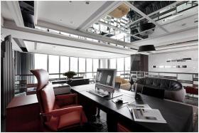 都市时尚现代风格黑色书房设计案例