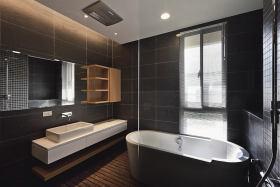 黑色现代风格卫生间装潢