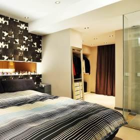 2016黑色现代风格卧室效果图欣赏