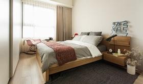 简约风格米色卧室窗帘装修布置