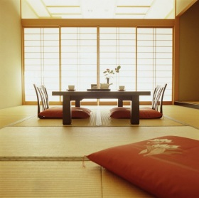 日式黄色榻榻米设计图片