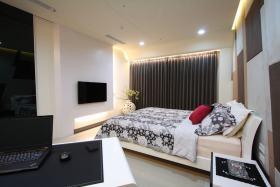 现代白色时尚卧室装修案例
