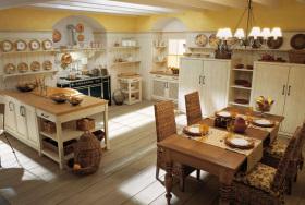 复古乡村田园风格质朴厨房图片赏析