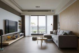 米色休闲宜家风格客厅装潢案例