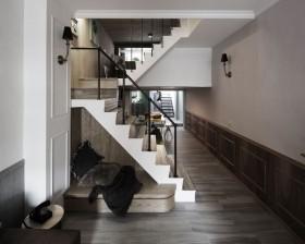 2016褐色美式风格过道楼梯赏析