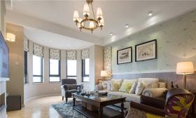 米色时尚简欧风格客厅装修布置