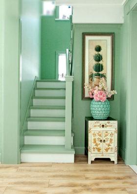 清新绿色欧式楼梯欣赏