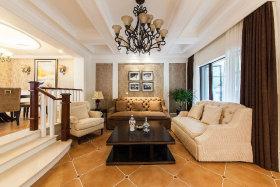 欧式风格温馨米色客厅设计案例