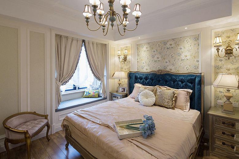 简浪漫优雅欧风格米色卧室装修效果图片