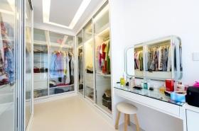 靓丽时尚白色简约风格衣帽间装潢设计
