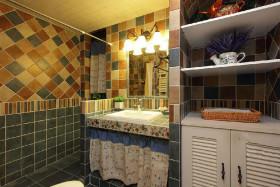 黄色东南亚风格卫生间装修图片