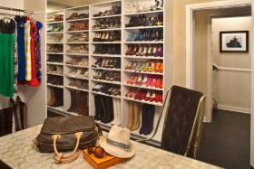 混搭风格白色鞋柜设计图