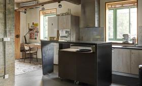 黑色现代工业风厨房吧台美图赏析