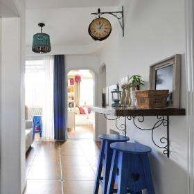 浪漫蓝色地中海风格吧台装饰设计图片
