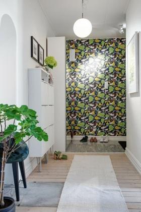 绿色创意雅致时尚简约风格玄关装潢案例