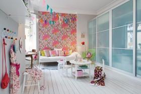创意混搭粉色儿童房效果图设计