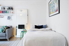 宜家风格白色卧室效果图设计