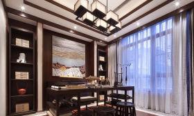 精致时尚新中式风格书房效果图设计