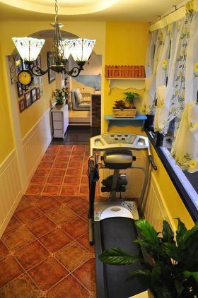 黄色浪漫田园风格健身室装饰设计图片