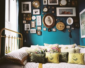 摩登复古混搭照片墙装潢设计