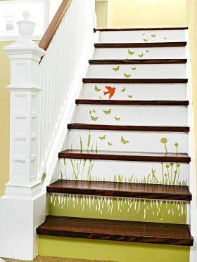 清新典雅田园风格楼梯设计图片