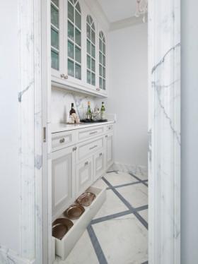 简欧白色厨房效果图