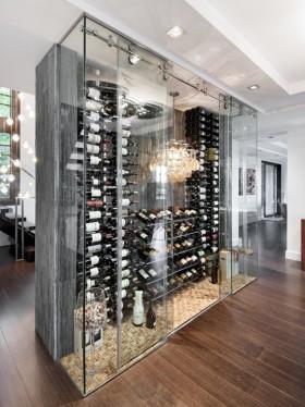 精致创意奢华现代风格酒柜装修案例