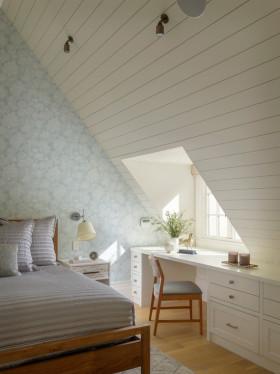 浪漫纯白简约风格阁楼装修布置