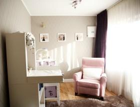 浪漫温馨粉色田园书房装潢效果图设计