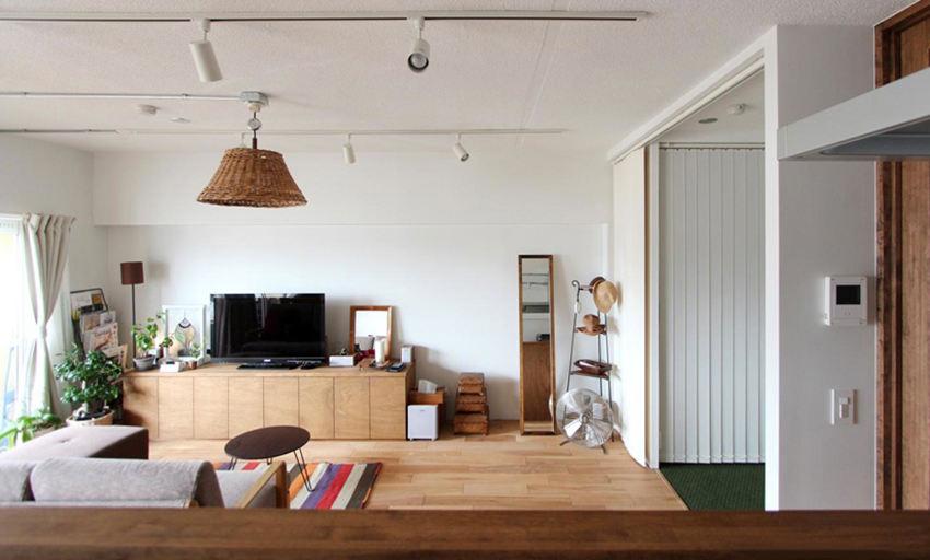 原木色北欧风格客厅效果图设计