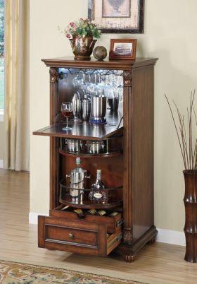 褐色美式风格酒柜设计装潢
