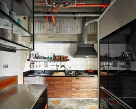 时尚现代工业风厨房装饰设计图片