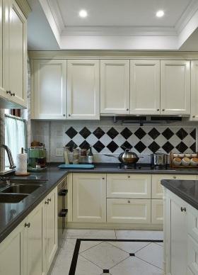 2016米色美式风格厨房橱柜设计赏析