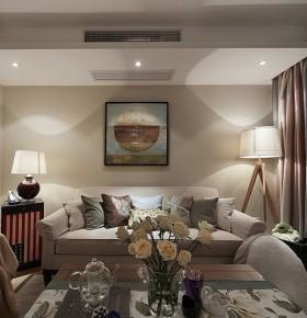 米色美式客厅装潢