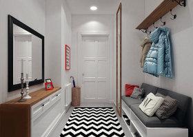白色摩登个性简约风格玄关设计