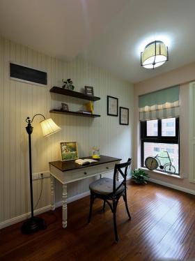 淡绿色美式风格书房装修案例
