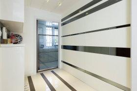 明亮线条时尚现代风格白色玄关装修布置