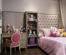 美式风格粉色卧室衣帽间装修布置