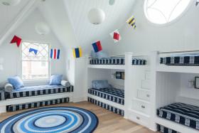 北欧风格蓝色儿童房装饰设计美图