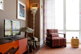 摩登创意混搭风格客厅装修图片