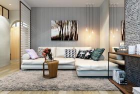 时尚灰色现代风格客厅装修