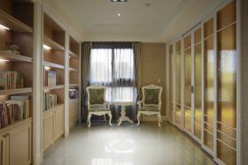 欧式风格米色书房装修案例