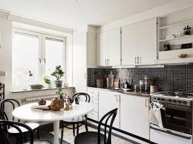 白色简约风格厨房设计图片