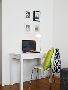 简约时尚白色照片墙效果图