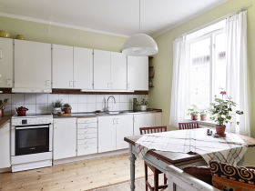 白色清爽自然田园风格厨房设计赏析