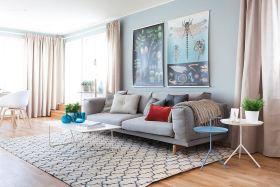 创意混搭蓝色客厅欣赏