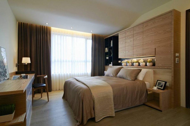 米色新中式风格卧室床头装饰柜图图片