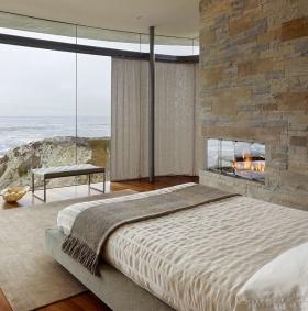 清新自然混搭风格卧室窗帘美图赏析